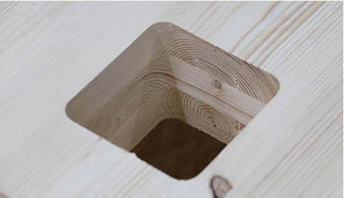 Ausschnitt in Brettsperrholz