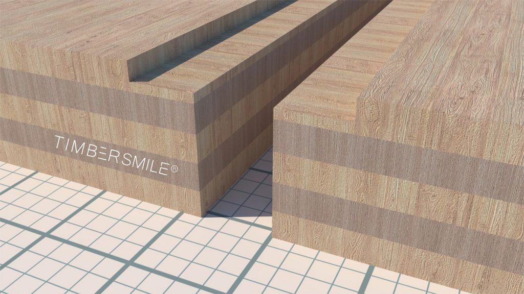 Brettsperrholz mit Fräsung für Stoßdeckleisten