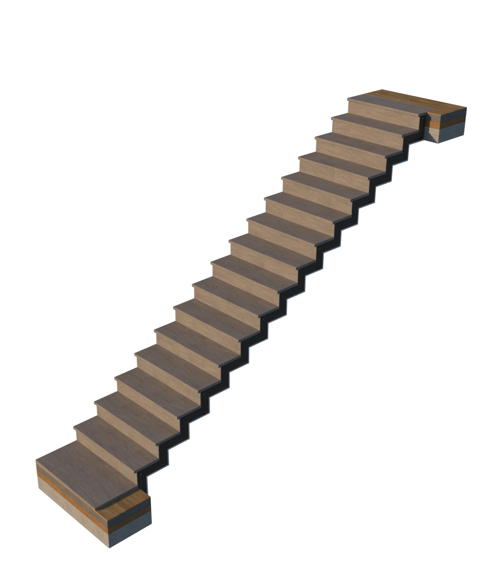 Faltwerk-Treppe mit Belag