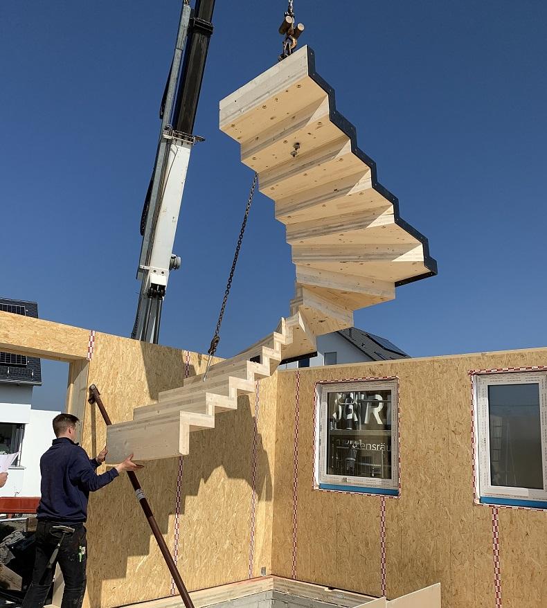Einbau einer Faltwerktreppe